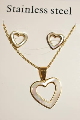 collier coeur Or c606a