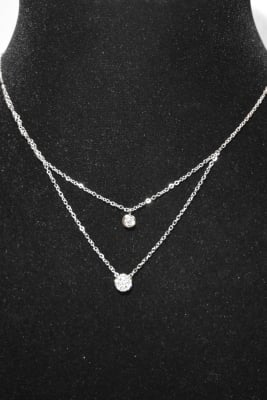 Collier en forme de diamand Argent