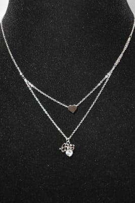 Collier love Argent cc88a