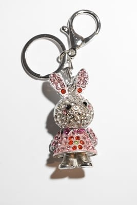 porte-cle lapin Rose